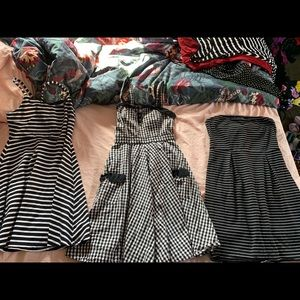 Hell Bunny Dresses - Lot of 13 rockabilly pinup dresses / skirts